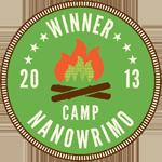 Winner Camp NaNoWriMo 2013